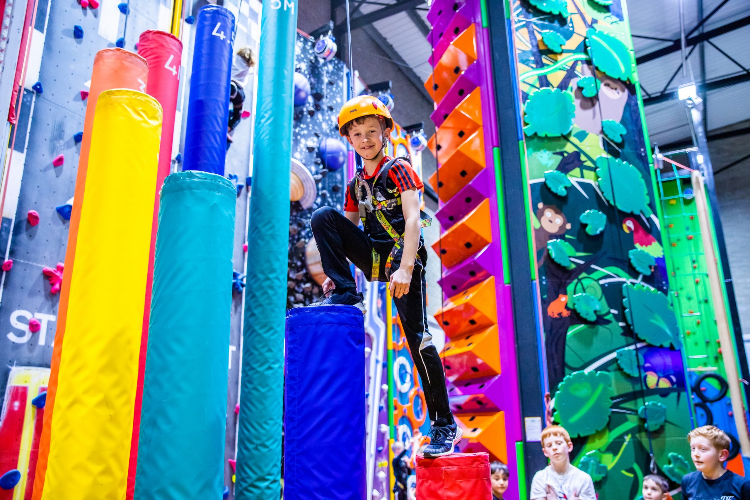 happy kids playing at grip and go in lancashire